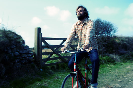 Neil on a bicycle